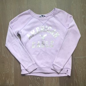 Lilac American Eagle Raglan Crew Sweatshirt